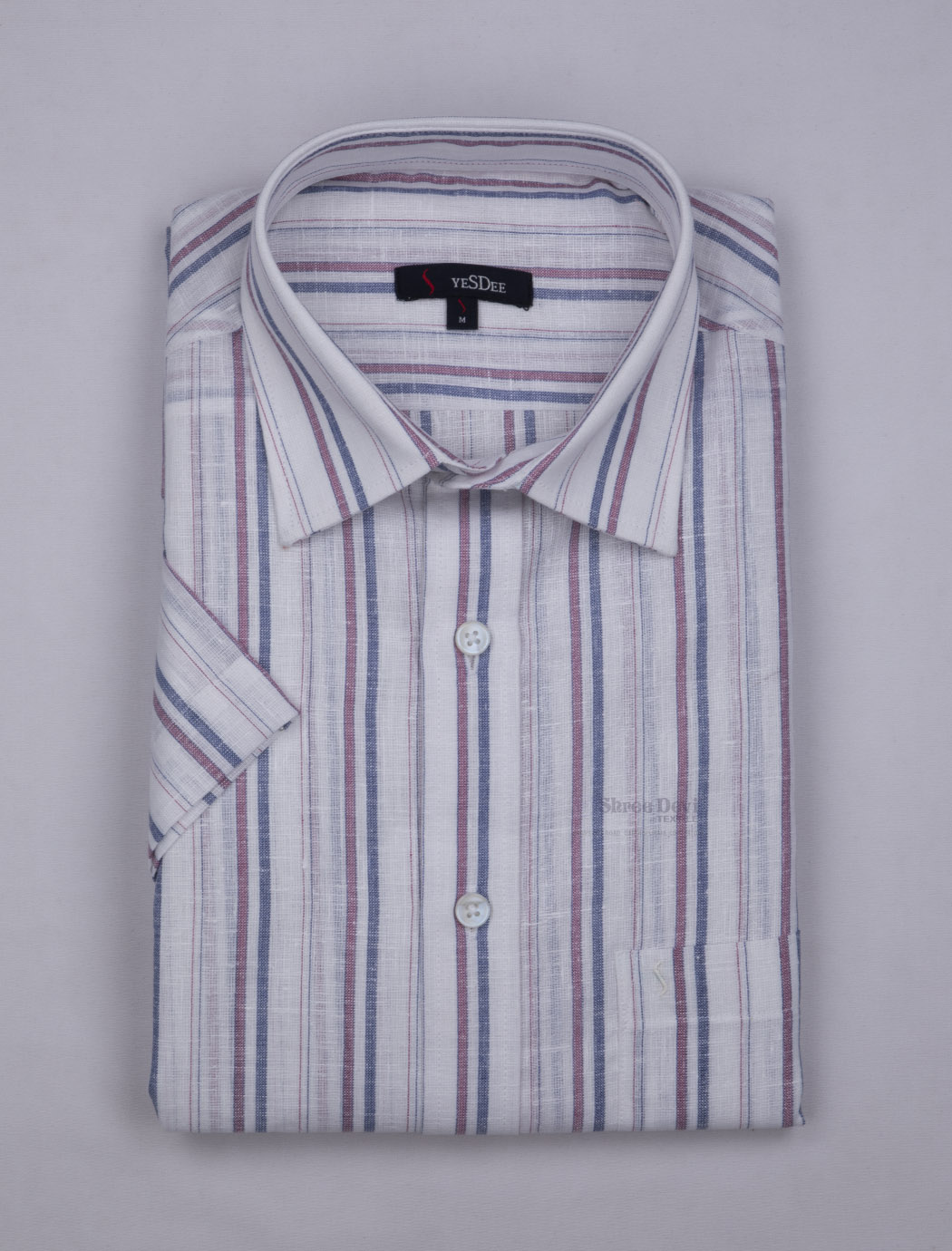 White Stripes Master in Master Half Sleeve Formal Shirt