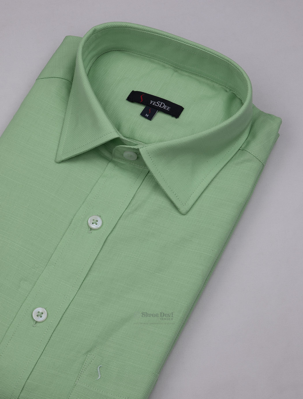 Pista Green Half Sleeve Formal Shirt