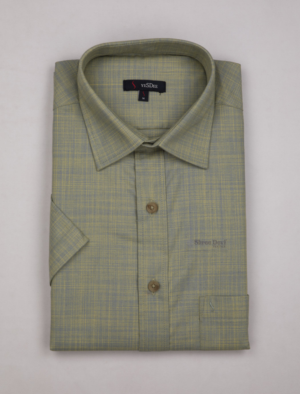 Green Self Desin Master in Master Half Sleeve Shirt