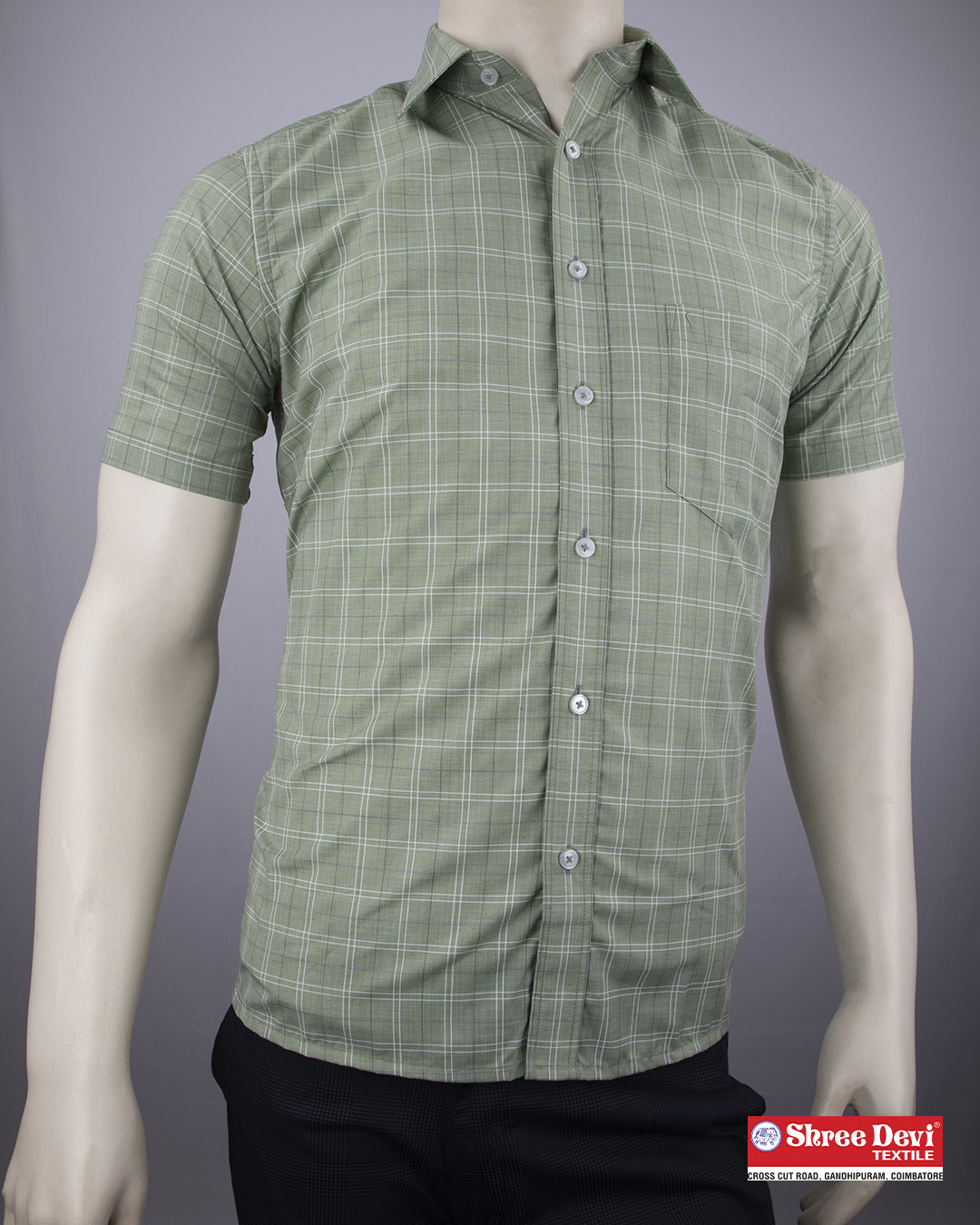 Iguana Green Formal Half Sleeve Shirt