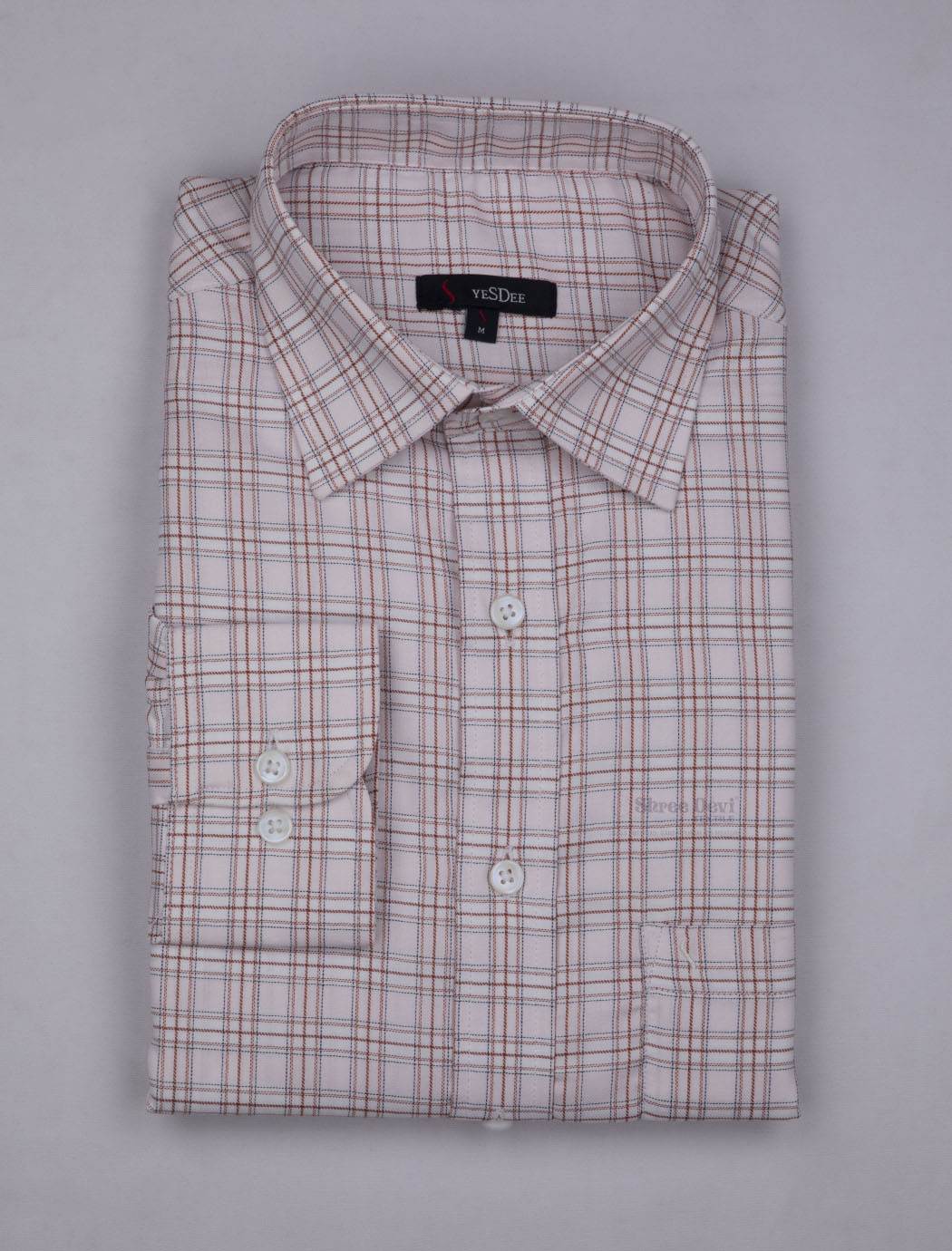 White Checks Full Sleeve Shirt