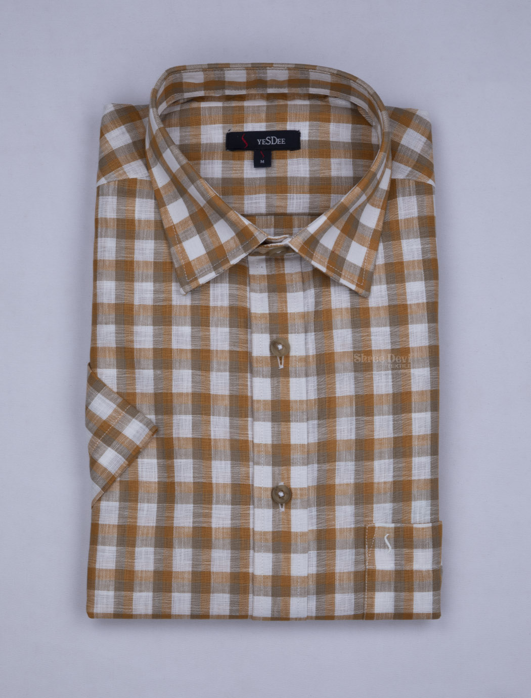 White Checked Master in Master Half Sleeve Formal Shirt