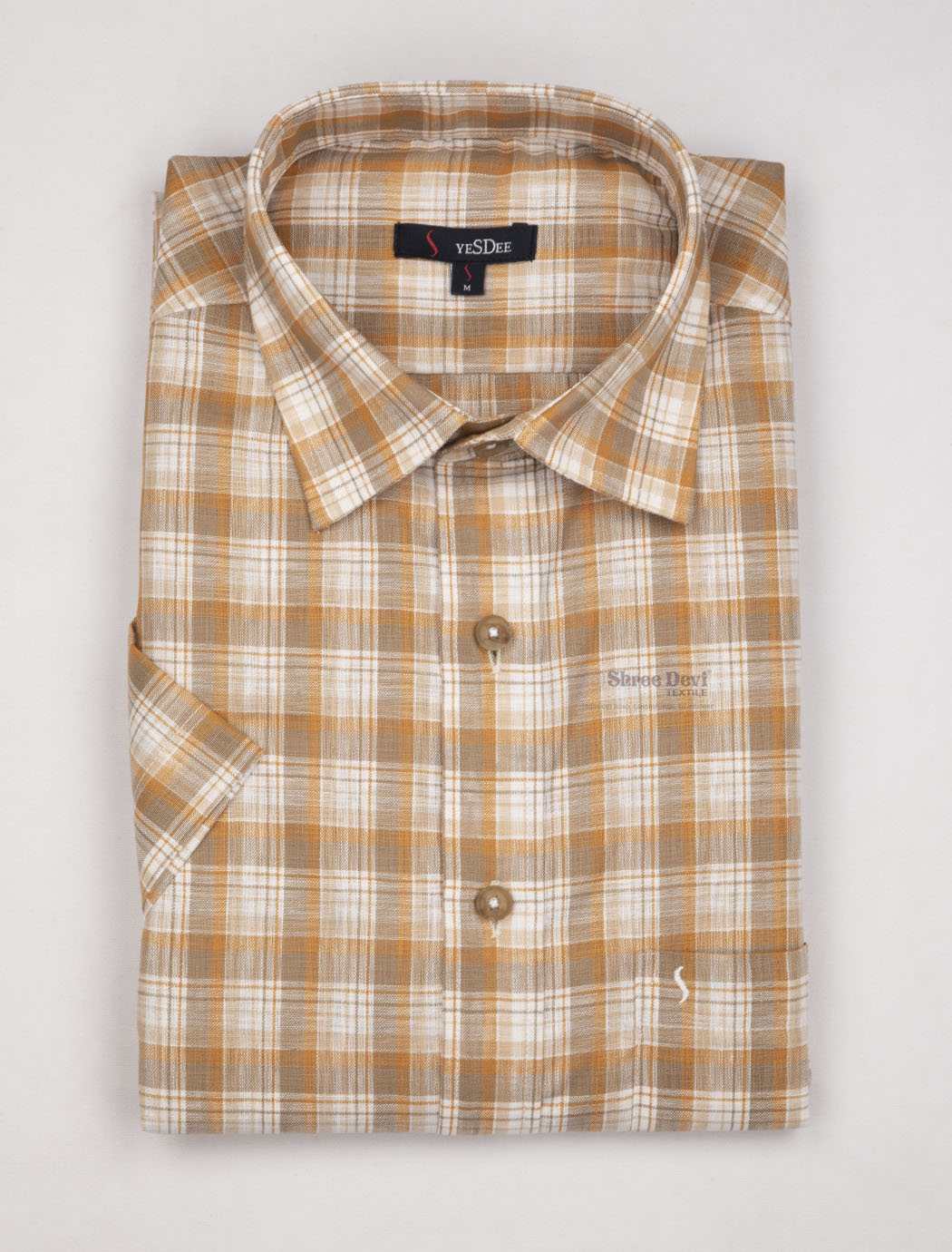 White Checked Master in Master Half Sleeve Shirt
