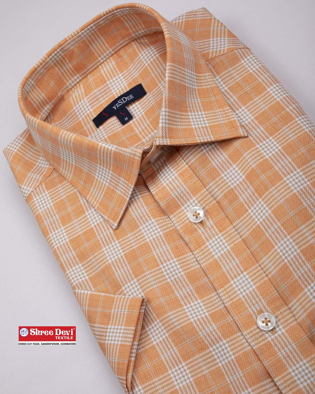MAngo Orange Formal Half Sleeve Shirt