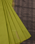 Pear Green Elite Motif Kancheevarams Silk Saree with Golden Design Zari Motifs