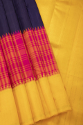 Amber Yellow Pure Kanchivaram Fancy Silk Saree