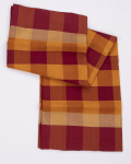 Carrot Orange and Burgundy Red Combination Kovai Pure Cotton Saree