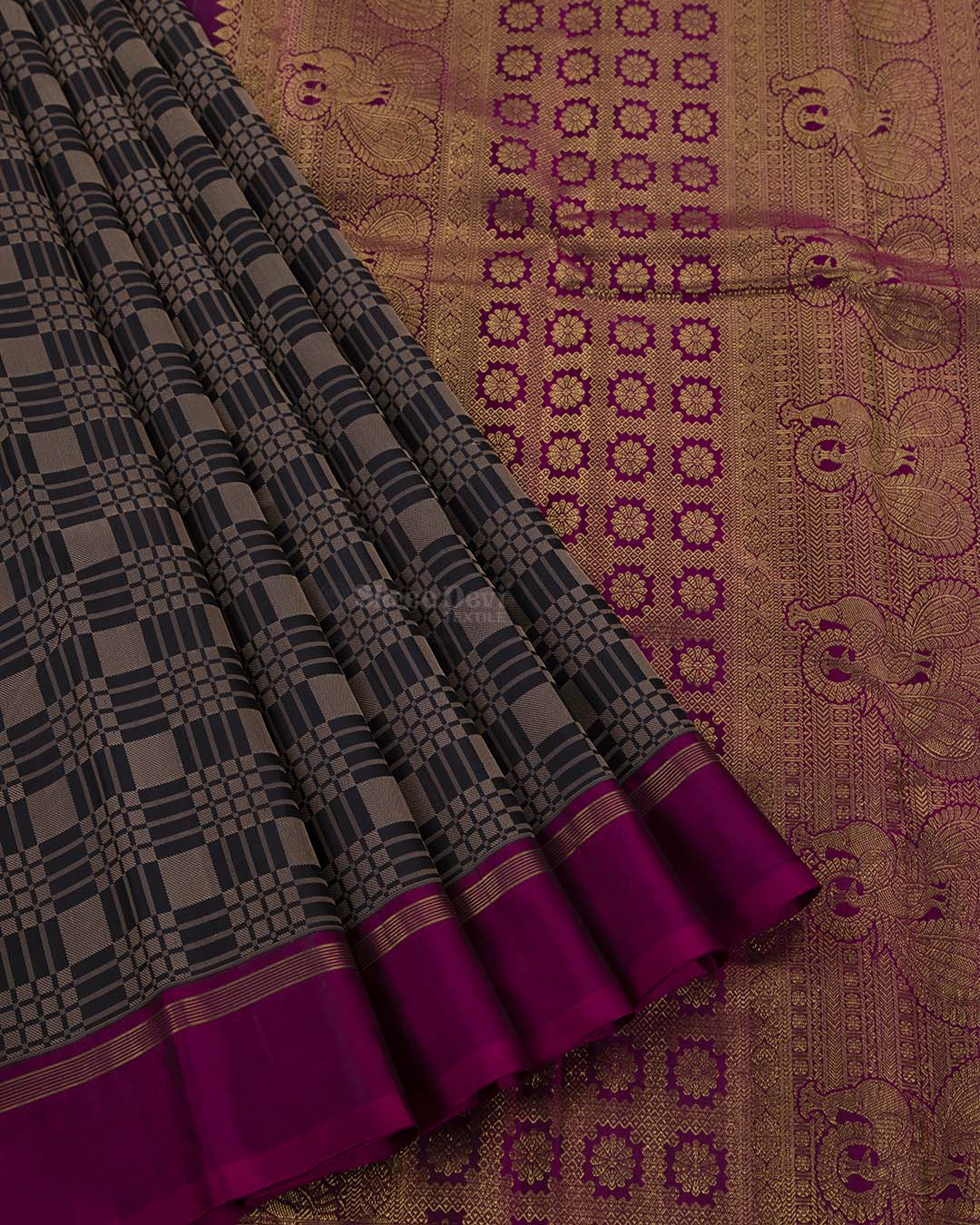 Black Kanchivaram Silk Saree