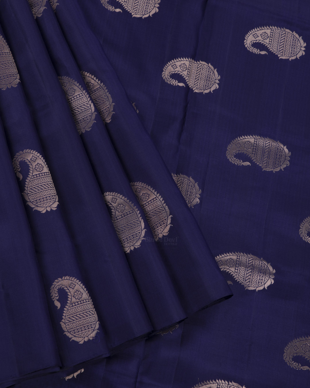 Dark Blue Elite Motif Kancheevarams Silk Saree