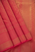 Journal Coral Red Kanchivaram Pure Silk Saree