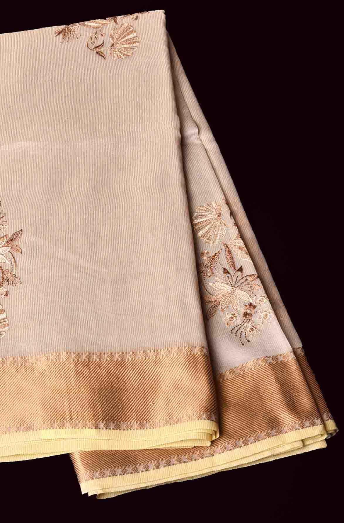 Light Brown Manipuri Cotton Saree