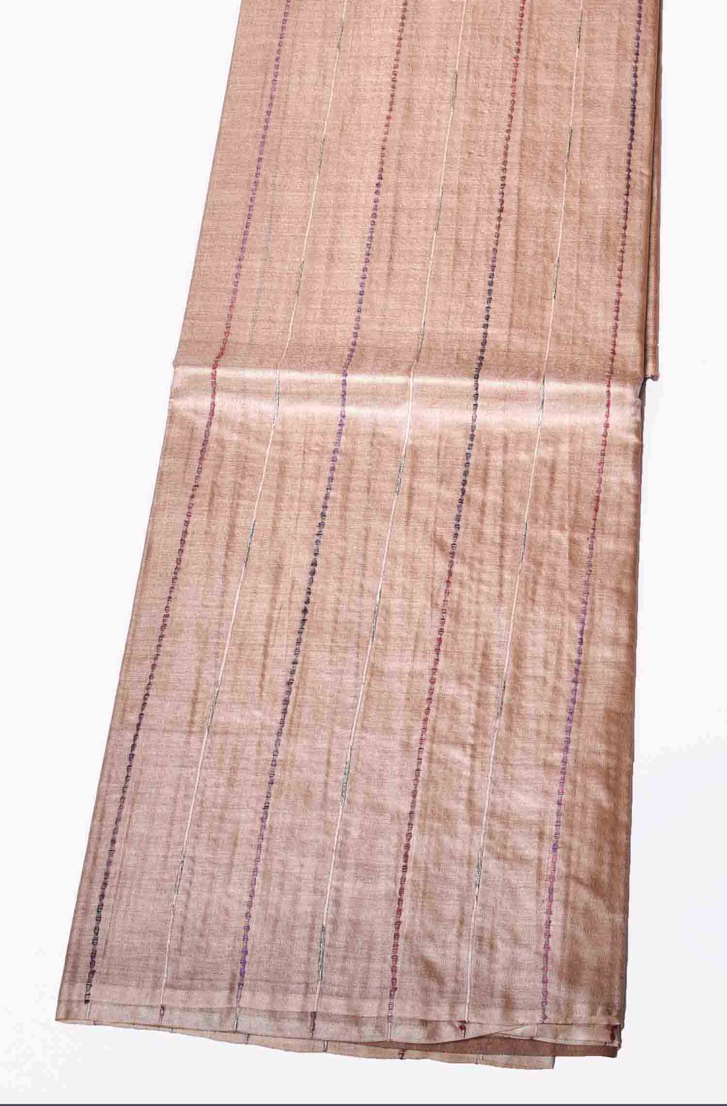 Pink with Multi Colour Pure Tussar Saree