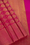 Magenta Pink Kanchivaram Pure Silk Saree