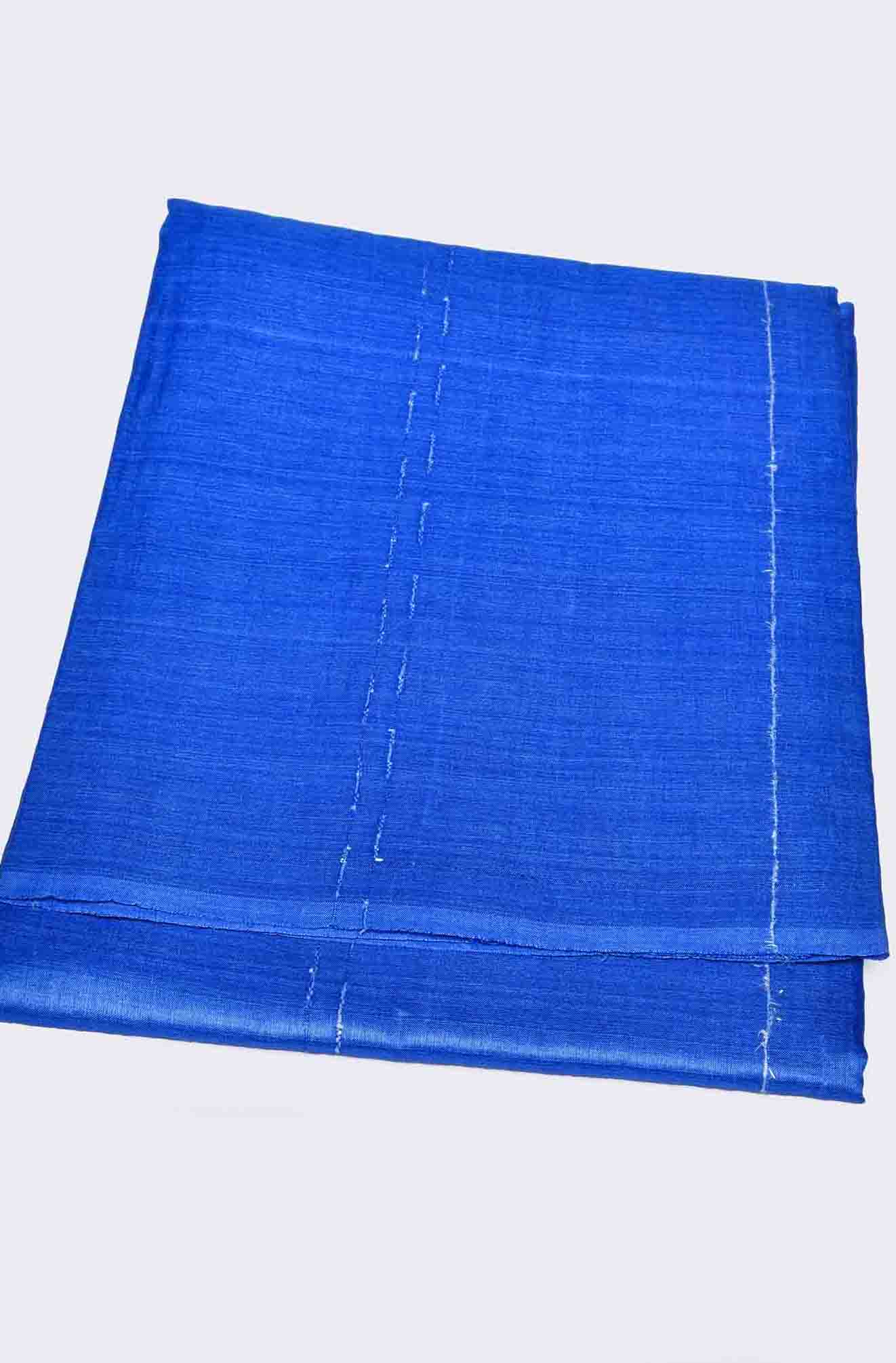 Blue with Thin Strips Pure Tussar Saree