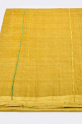 Yellow with Jungle Green and Scarlet Red Pure Tussar Saree