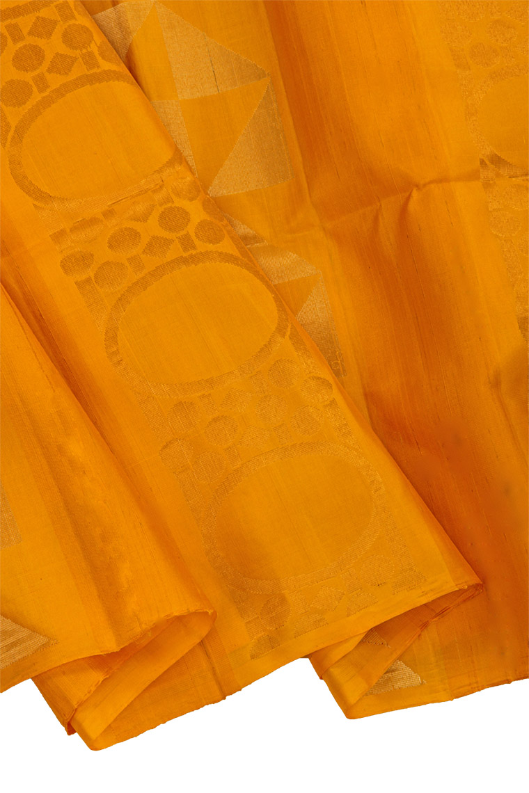 Gold Yellow and Shadow Grey Combination Pure Soft Silk Saree
